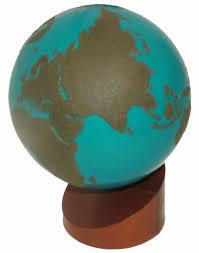 montessori materials sandpaper globe of land and water