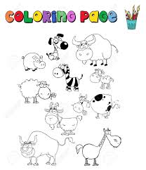 farm animal coloring book amazing coloring farm animals 77 3840