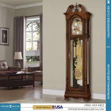 German Grandfather Clocks Howard Miller Cable Driven Grandfather Clock In Cherry Bordeaux