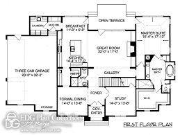 dual master suites down master edg plan collection