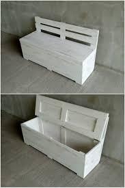 Outdoor Storage Bench Waterproof Pallet Storage Bench 44h Us