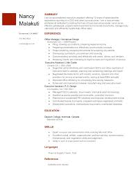 Sample Resume For Google by Executive Assistant Resume Nancy Malakuti Google Docs