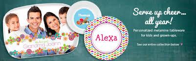 personalized melamine platters customized kids melamine plates platters dinnerware
