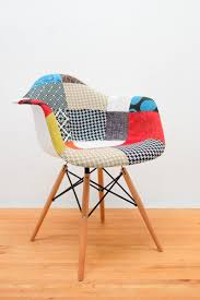 Patchwork Armchair For Sale Eamesy Style Padded Armchair Patchwork Natural Base