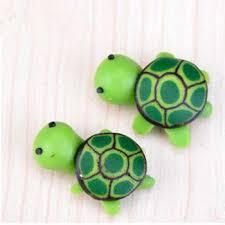 kawaii green sea turtle animals figutrines diy assembly ornaments