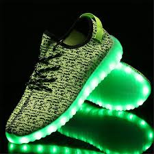 led light up shoes for adults led light up trainers women green remote