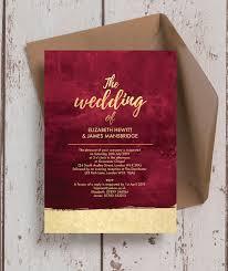 gold wedding invitations burgundy gold wedding invitation from 1 00 each