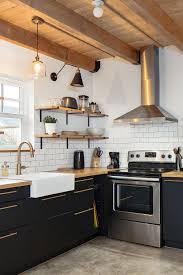 modern farmhouse kitchen black cabinets 91432 farmhouse kitchen with black cabinets backsplash