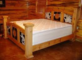 RUSTIC BEDROOM FURNITURE WESTERN BEDROOM FURNITURE RUSTIC BEDS - Cowhide bedroom furniture