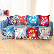 Cargo Furniture Cushion Covers Printed Linen Led Light Square Pillow Cases Cushion Covers