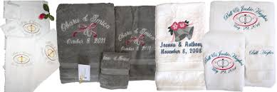 wedding gift towels embroidered and personalized wedding gifts