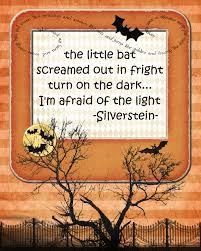 Creepy Halloween Poem The Little Bat Screamed Out In Fright Pink Polka Dot Creations