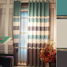 Striped Blackout Curtains Bedroom Simple Blue Print Striped Blackout Curtains