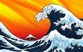 japanese style japanese style waves wallpaper vector wallpapers 14950