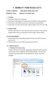 membuat form login dengan ms access 2007 membuat form basis data dengan microsoft access