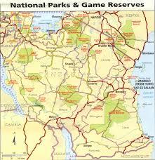 Tanzania Map Online Maps Tanzania National Parks