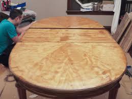 refinish dining room table marvelous veneer table top refinishing charming refinish dining