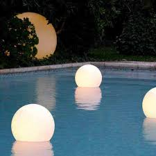 floating led pool lights led floating swimming pool sphere light 50cm buy pool lights