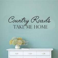 aliexpress com buy country road take me home wall decals family