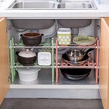 kitchen cabinet organizer shelf small extendible kitchen rack sink storage rack shelf cooker pot pan holder cabinet organizer kitchen organizer dish drying rack