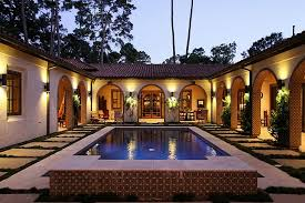 style house plans with interior courtyard gorgeous inner courtyard pool with wrap around verandas for the