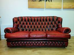 vintage leather chesterfield sofa 3 seater vintage chesterfield sofa oxblood red button leather