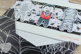 cookie cutter halloween card u0026 envelope luvin stampin