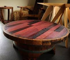 whiskey barrel side table handmade whiskey and wine barrel recycled furniture