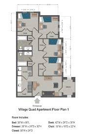 Family Life Center Floor Plans Village Apartments Slu