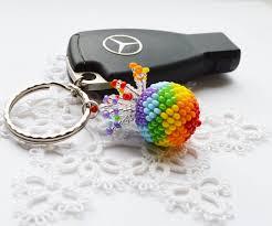 rainbow pineapple keychain for womens gift cute keychains