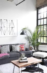 Grey Floor Living Room Appealing Industrial Living Room Bohemian Style Ideas Lighting