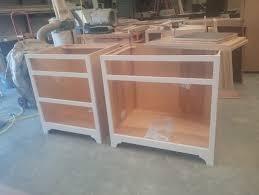 cabinets installed on glue engineered floor