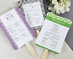 wedding program fan sticks diy designer wedding fan program kit