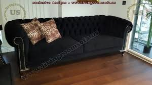 Black Fabric Chesterfield Sofa Design Exclusive Design Ideas - Chesterfield sofa design