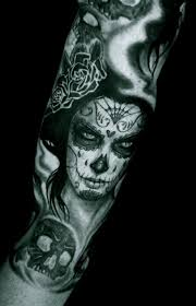 day of the dead tattoo designs dia de los muertos pinterest
