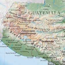 geographical map of guatemala international mapping central america physical 40 x 30 inches