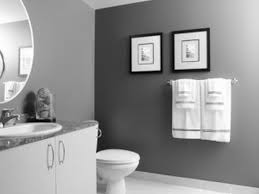 bathroom gray colors vanity paint and white accent wall ideas