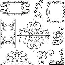 wrought iron ornamental designs stock image and royalty free
