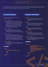 css tutorial pdf for dummies html cheat sheet for 2018 new html5 tags included in pdf and jpg