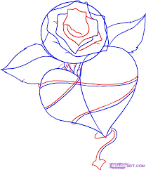 how to draw a flower heart step by how to
