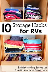 10 rv storage hacks roadschooling series free homeschool deals