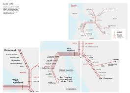 Bart Line Map by Bart Identity Graphis