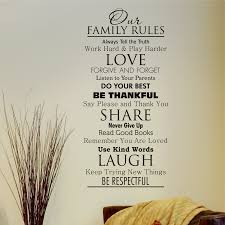 quote decals for glass classic family rules wall quotes decal wallquotes com