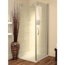 Lakes Shower Door Lakes Italia Romano Pivot Shower Door 1000mm Silver Clear Glass