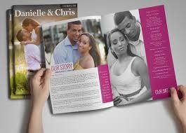 magazine wedding programs the album factory