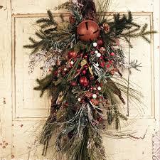 jingle bells artificial tear drop swag the wreath depot