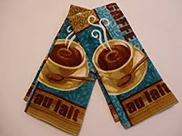 master cuisine cafe au lait coffee latte kitchen towels 2pk by master cuisine