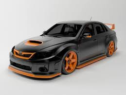 subaru cars models subaru impreza sti 2011 3d cgtrader
