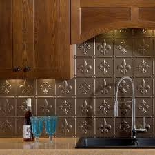 fasade fleur de lis backsplash in gloss white 18 sq ft kit
