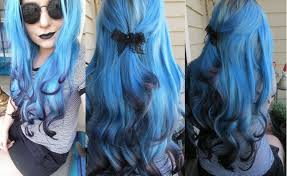 Hair Extension Tips by How I Dyed My Hair Extensions Blue With Black Tips Ice Fire